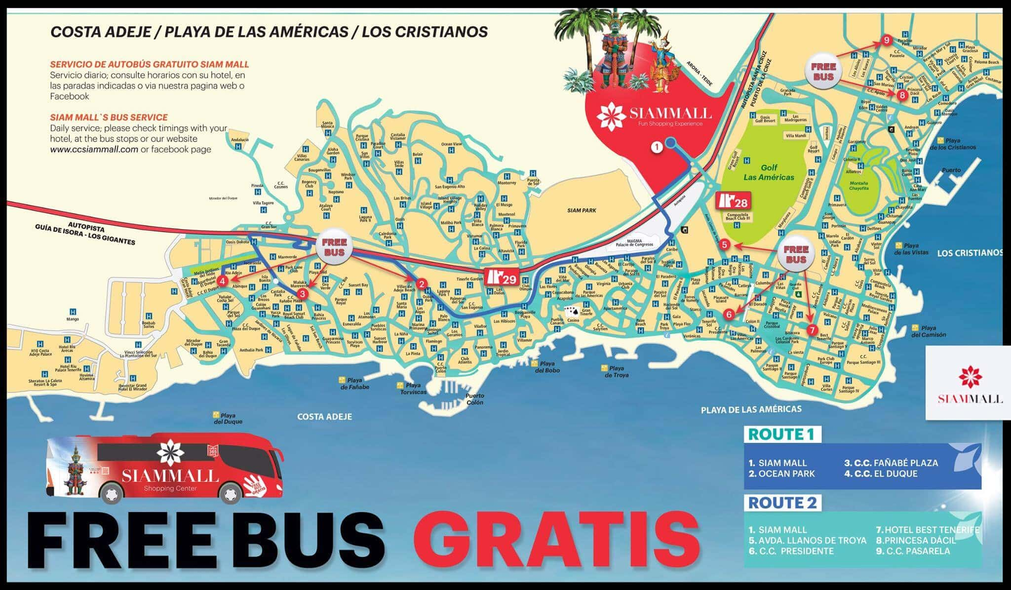 автобусы в Сиам-Молл