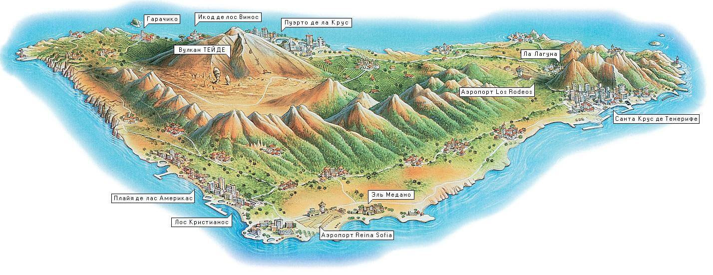Карта Тенерифе