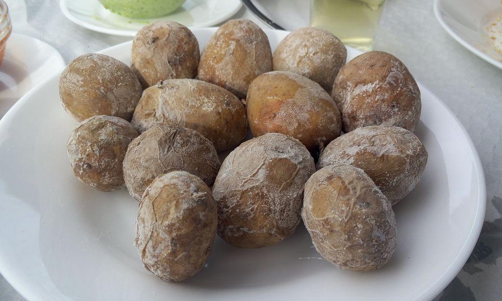 Papas arrugadas (папас арругадас), Тенерифе, сморщенный картофель